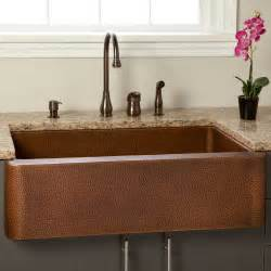 kitchen farmhouse sink 36 quot fiona hammered copper farmhouse sink kitchen