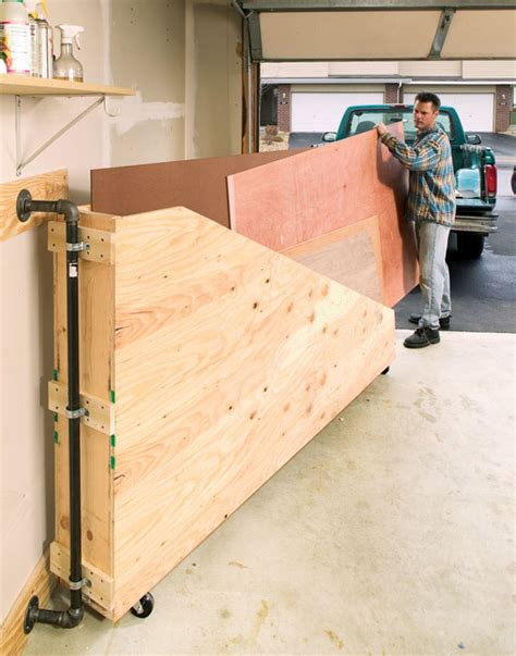 woodworking storage swing out plywood storage popular woodworking magazine