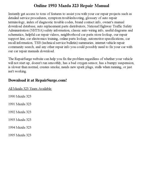 service manual 1993 mazda 323 fuse box manual 93 mazda mx3 repair manual 28 images chilton