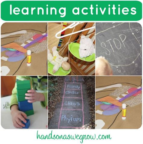 educational crafts for 6 learning activities on it s playtime