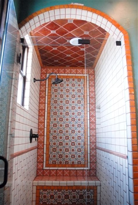 mexican tile bathroom designs mexican tile mediterranean bathroom by clay