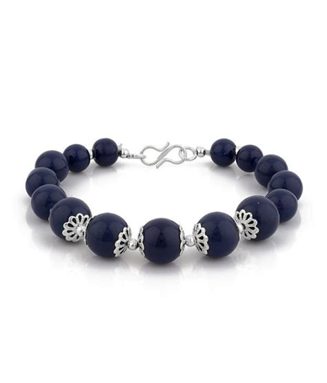 buy beaded bracelets d d cool blue beaded bracelet buy d d cool blue beaded
