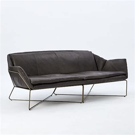 origami sofa origami leather sofa west elm
