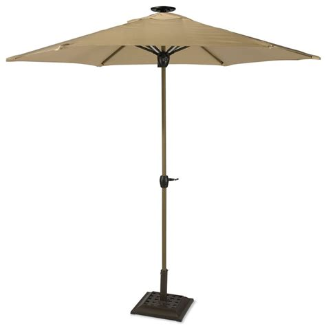 patio solar umbrella solar powered lighted patio umbrella the green