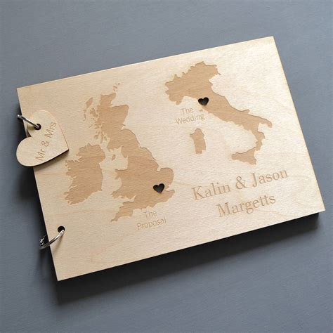 guest book picture personalised duo destination map guest book by clouds and