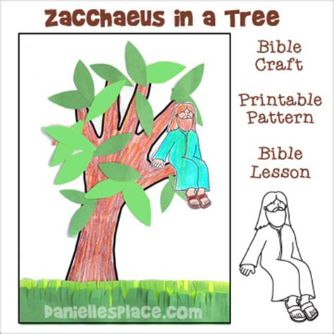 tree and jesus zacchaeus bible crafts and and activities for sunday school