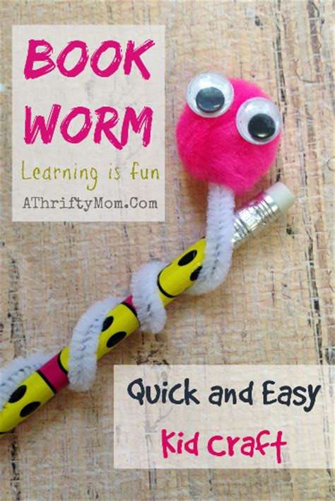 book craft for book worm and easy kid craft craft