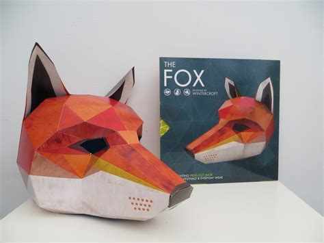 origami fox mask press out masks by wintercroft et speaks from home