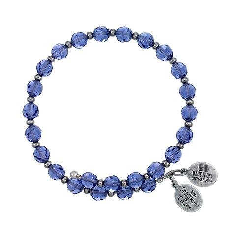 6mm bead bracelet 6mm tanzanite with spacer bead wrap bracelet