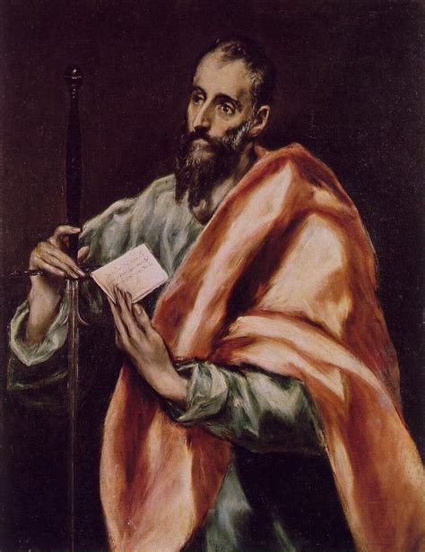 el greco woodworking artwork depicting st paul the apostle