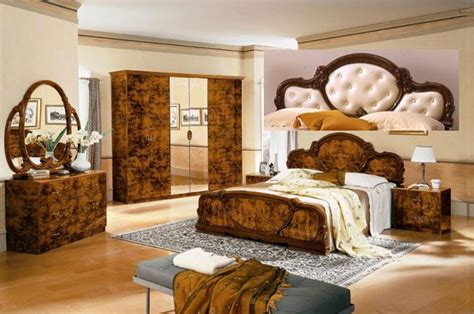 complete sets complete set serena walnut traditional italian bed
