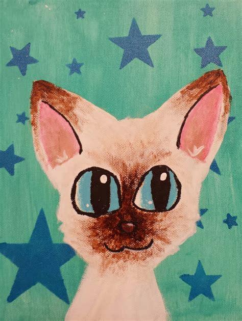 simple cat painting pictures angela cat portrait paintings