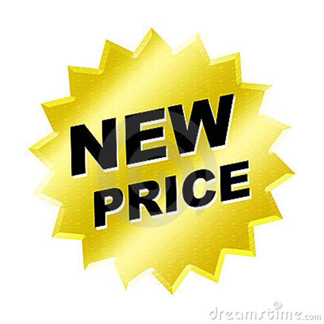 new one new price sign stock photos image 6580973