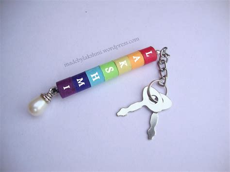 how to make a keychain with diy rainbow quilling keychain m de by lakshmi