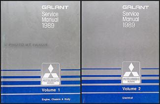 1989 mitsubishi mirage repair shop manual set original 1989 mitsubishi galant repair shop manual set original
