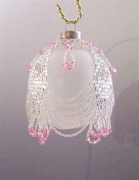beaded ornament cover patterns free free beaded ornament cover patterns netting as a beaded