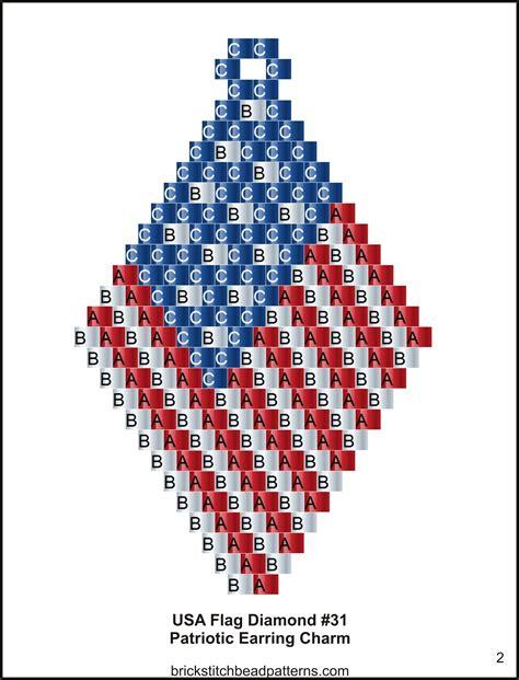 2 bead patterns brick stitch bead patterns journal usa flag 3