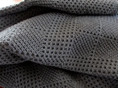 knitted afghans knitted afghan throw blanket medium gray