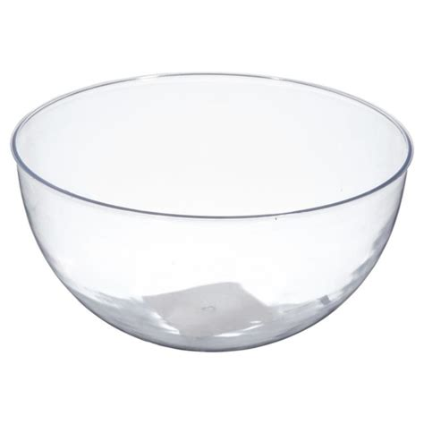 clear plastic clear plastic bowl 25cm kmart