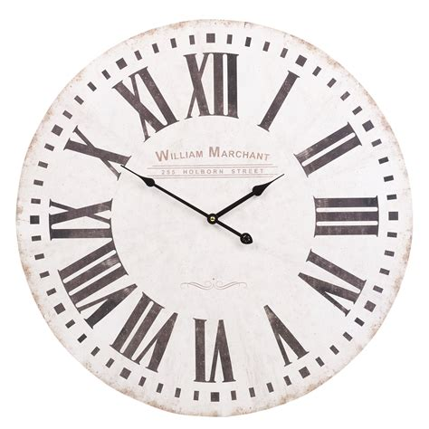 shabby chic large wall clocks 60cm large wooden wall clock vintage retro