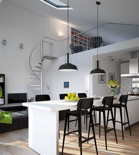 kitchen dining lighting d modern monochrome green apartment kitchen dining