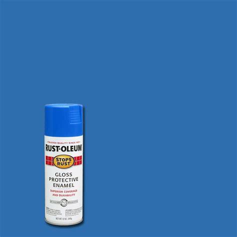 home depot spray paint blue rust oleum stops rust 12 oz protective enamel gloss sail