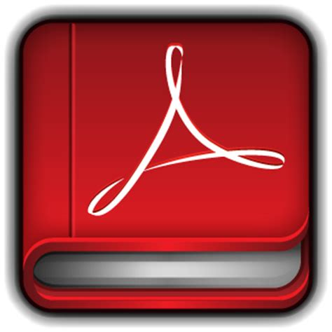 pdf book with pictures adobe pdf reader icon books icons softicons