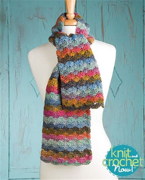 knit and crochet now episodes free color wave scarf crochet pattern designed