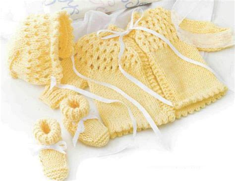 baby sets knitting patterns free baby knitting patterns layette sets knitting pattern