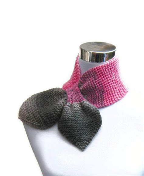 tie knitting pattern free ascot keyhole bowtie scarf free knitting and crochet