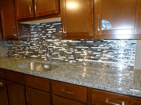 kitchen backsplashes pictures glass tile kitchen backsplashes pictures metal and white