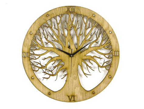 design for tree tree design laser cut clock