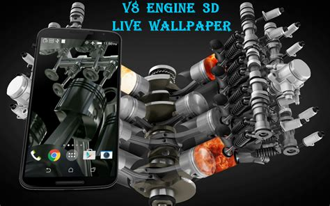 Live Car Engine Wallpaper by V8 Engine 3d Live Wallpaper Android Apps On Play