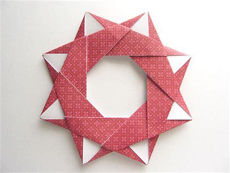 origami wreath origami origami modular wreath