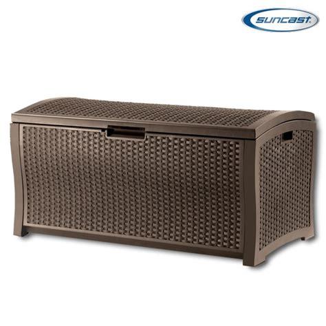 plastic patio storage boxes suncast dbw9935 plastic rattan deck box