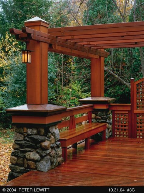 pergola with bench craftsman style pergola with bench house