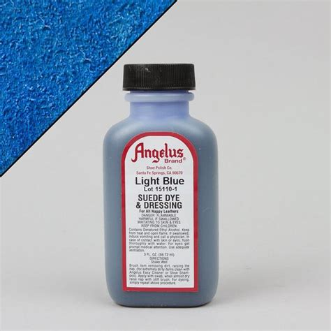 angelus paint suede dye angelus leather paint dyes light blue suede dye 3oz