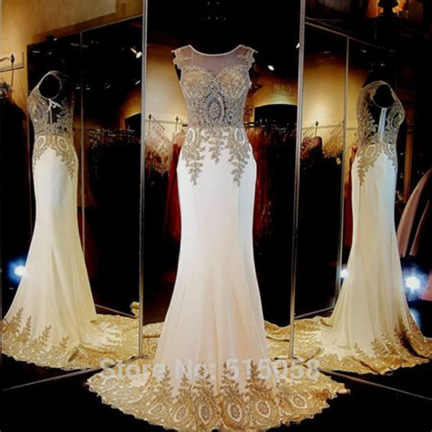 wedding dresses with gold beading aliexpress buy real sle gold embroidery beaded
