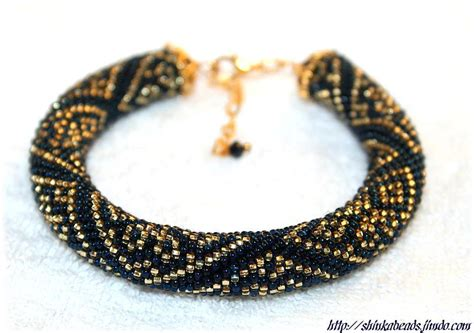 seed bead projects you to see blue seed bead crocheted bracelet by