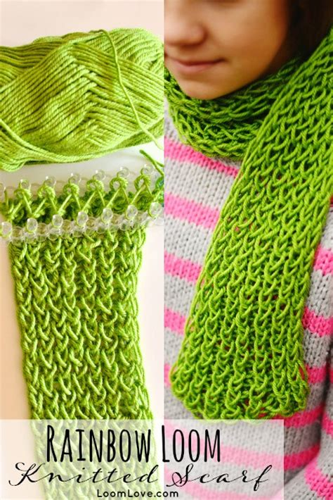 how to make a knit scarf how to make a knitted scarf on your rainbow loom