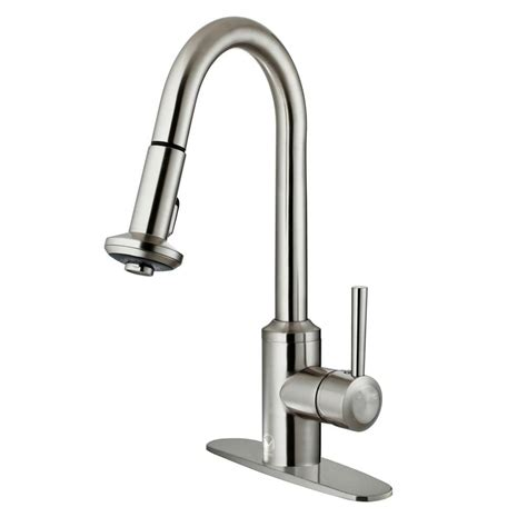stainless steel kitchen faucet with pull spray stainless steel kitchen faucet with pull spray 28 images
