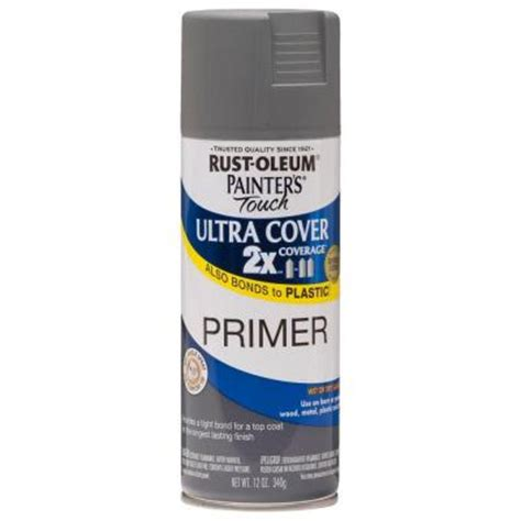 home depot spray paint and primer rust oleum painter s touch 2x 12 oz flat gray primer