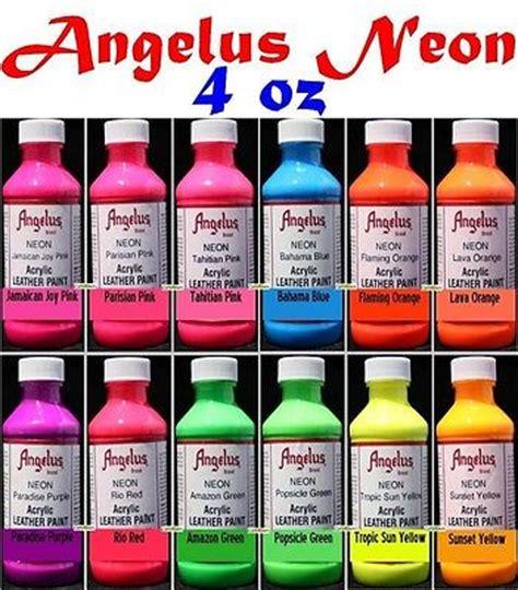 angelus paint retailers 4oz angelus acrylic neon paint dye leather vinyl sneaker