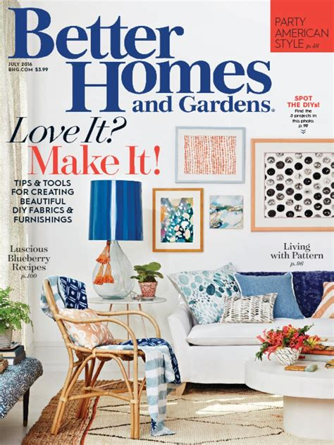 magazine subscription better homes garden magazine subscription deals