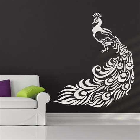 peacock wall sticker peacock bird animal wall stickers wall decal transfers