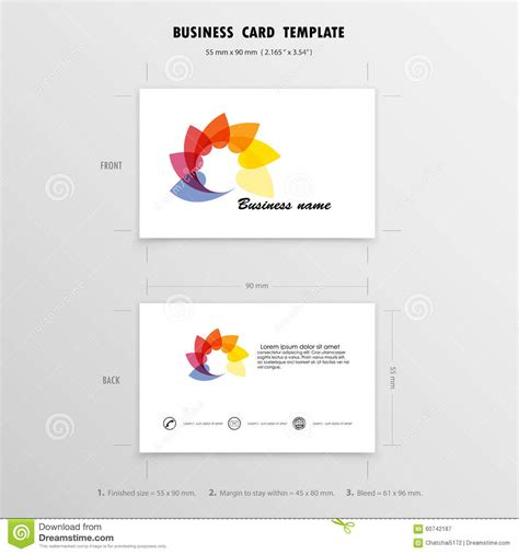 names for card business abstract creative business cards design template name