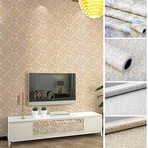 craft paper wall covering flowers european modern self self adhesive wallpaper