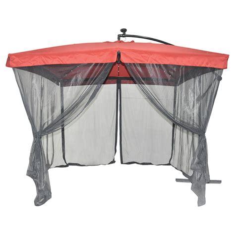 patio umbrella with netting solar light cantilever patio umbrella with netting rona
