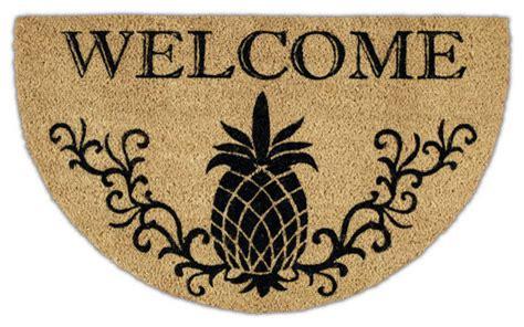 pineapple rubber st welcome pineapple doormat 24x30 tropical doormats