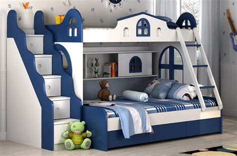 bunk beds for boy and children bunk bed with guardrail environmental protection